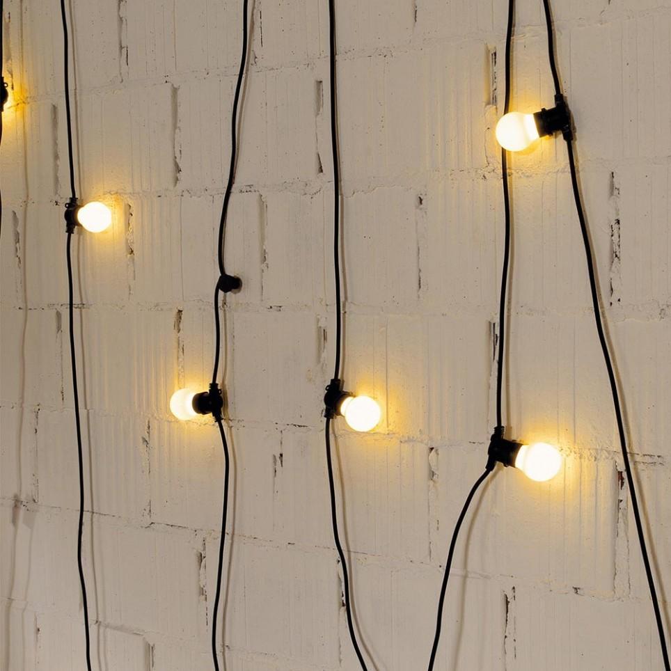 guirlande lumineuse bella vista de couleur noire. Black Bedroom Furniture Sets. Home Design Ideas